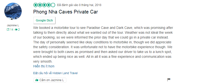 Phong Nha to DMZ by private car